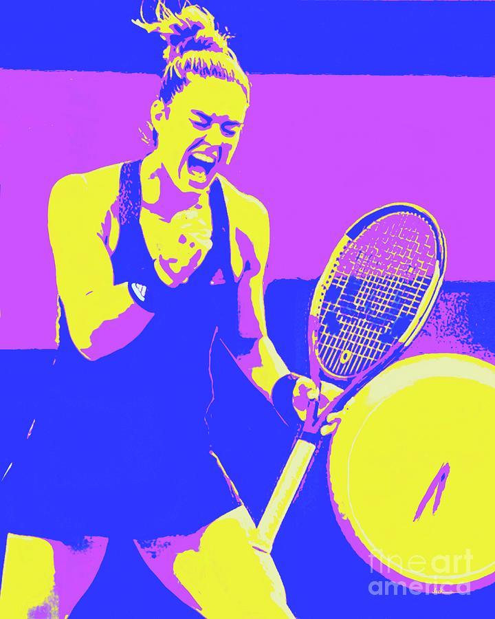 Tennis Painting - Maria Sakkari 2021 by Jack Bunds