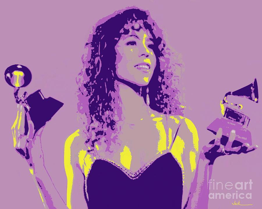 Mariah Carey Painting - Mariah Carey 1990 by Jack Bunds