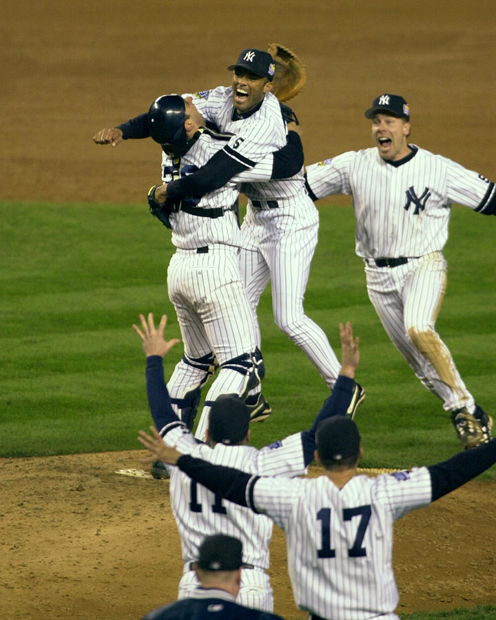Mariano Rivera, Scott Brosius, And Jorge Posada Photograph by New York Daily News Archive