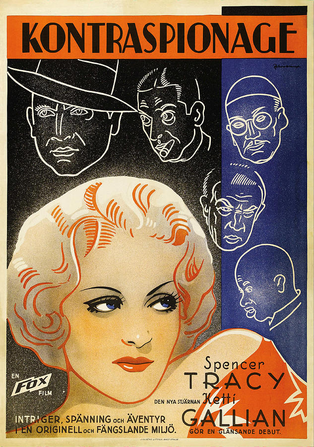 marie Galante Movie Poster, With Spencer Tracy, F1934 Mixed Media