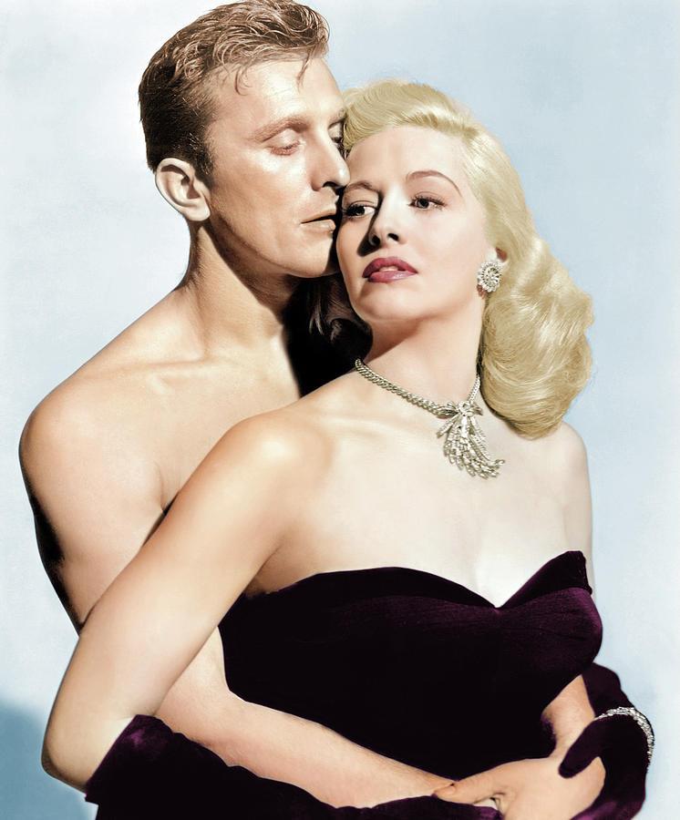 Marilyn Maxwell And Kirk Douglas Photograph