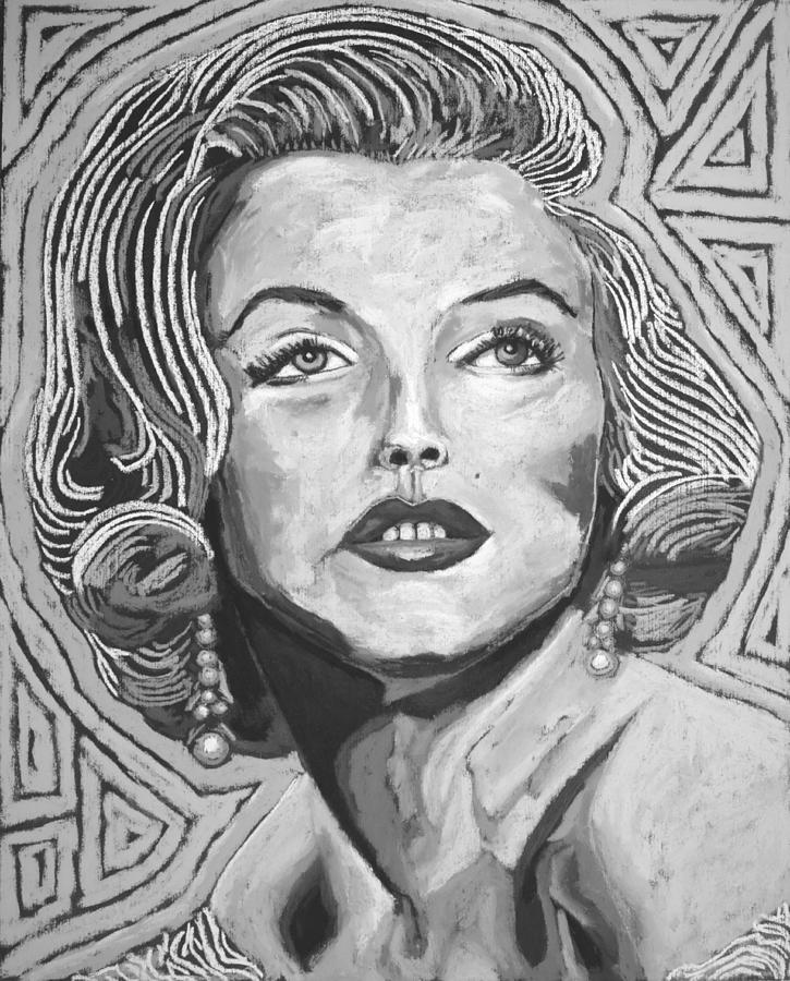 Marilyn Monroe - Black And White Digital Art