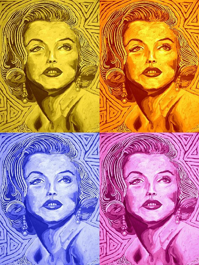 Marilyn Monroe - Collage Digital Art