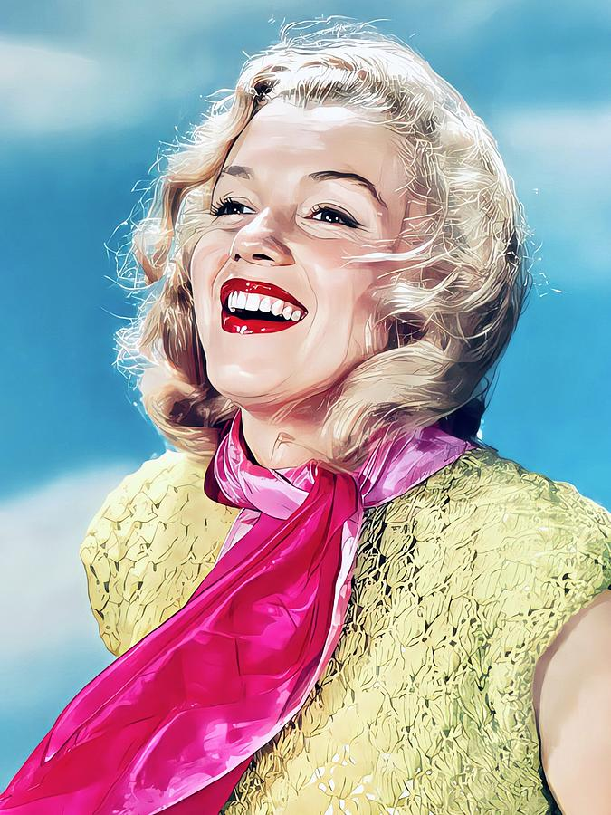 Marilyn Monroe Painting - Marilyn Monroe Colour Portrait by Vincent