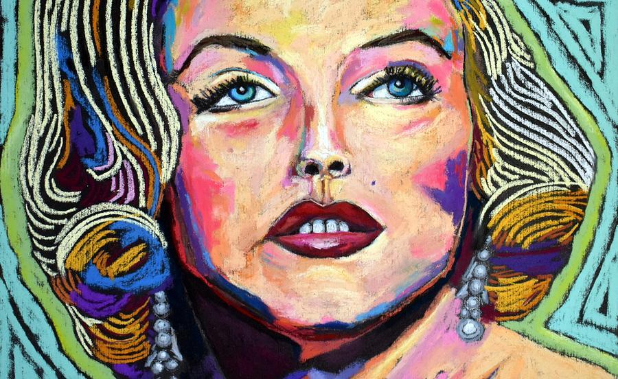 Marilyn Monroe - Crop Painting