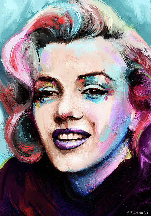 Marilyn Monroe portrait by Stars on Art