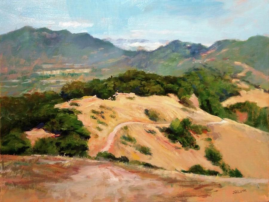 Golden Hills Painting - Marin Hills by Peter Salwen