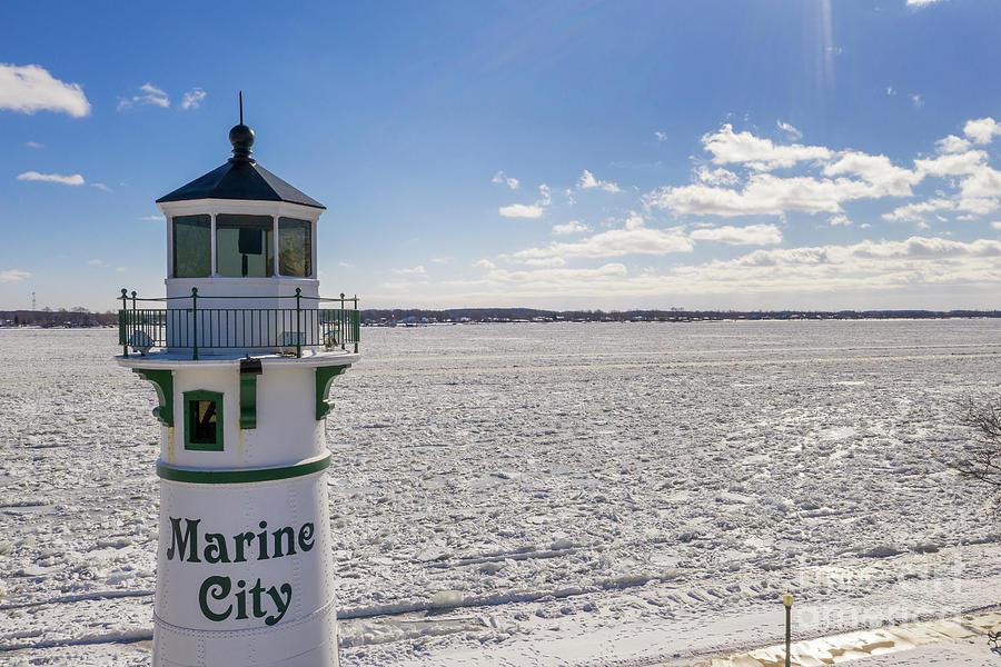 Marine City Lighthouse Photograph