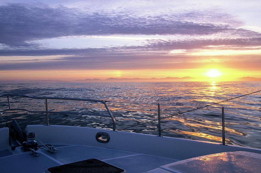 sunrise off Washington coast by David Shuler