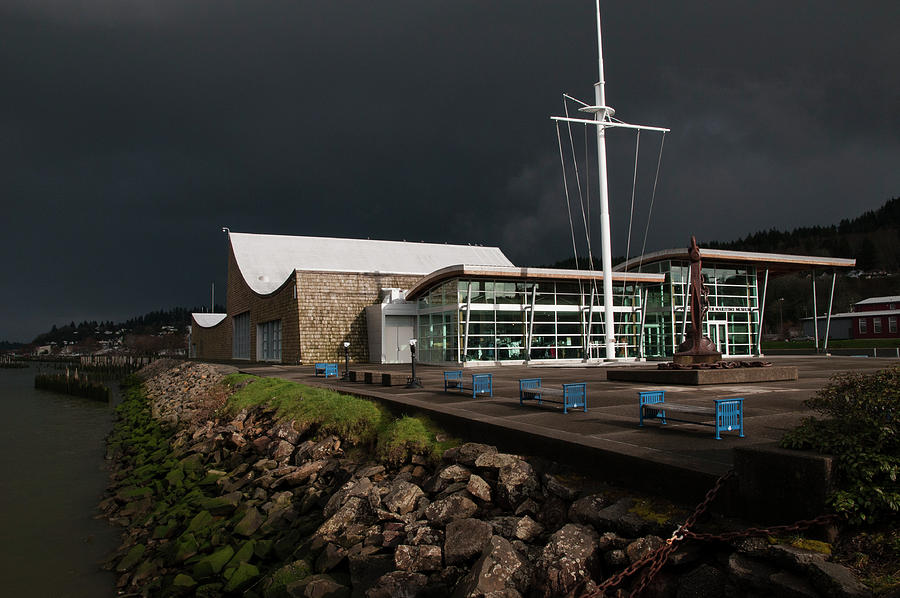 Maritime Museum and Storm Clouds by Robert Potts