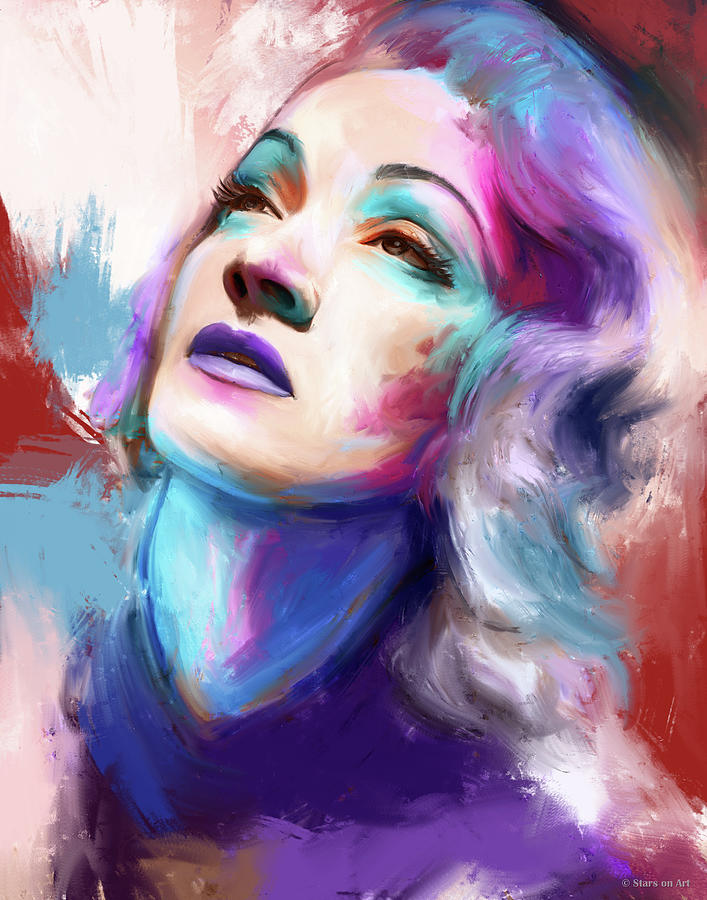 Marlene Dietrich Painting Painting
