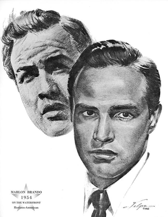 Marlon Brando By Volpe Drawing