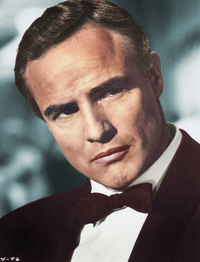 Marlon Brando Colorized Photograph