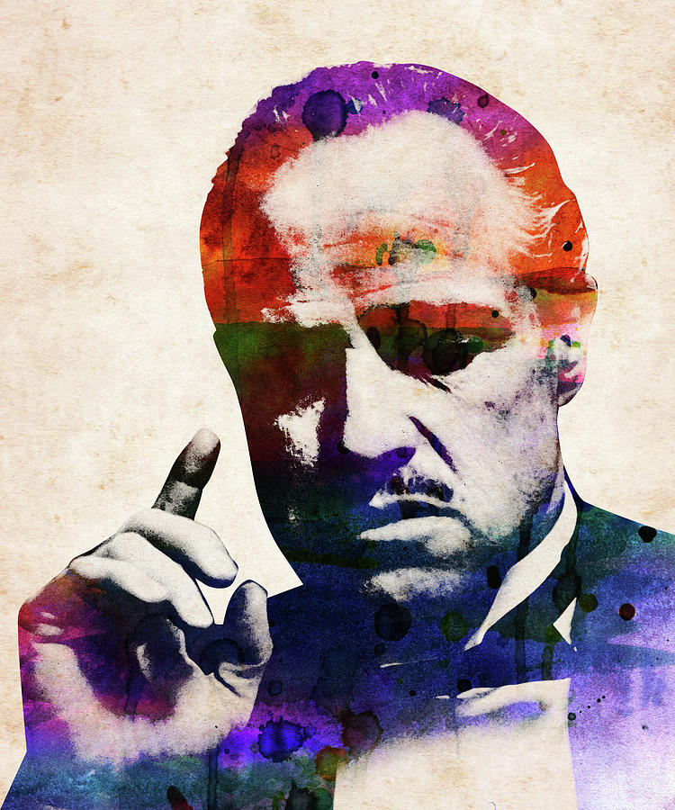 Marlon Brando The Godfather Watercolor Digital Art