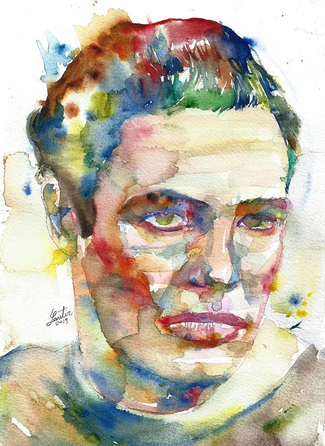 MARLON BRANDO - watercolor portrait.2 by Fabrizio Cassetta