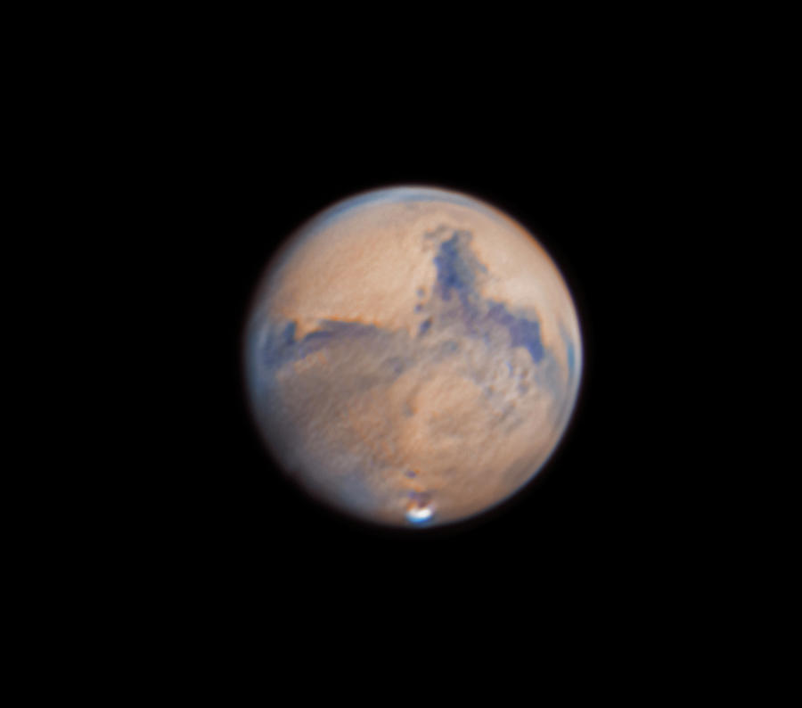 Mars Photograph - Mars from 31st October 2020 by Prabhu Astrophotography