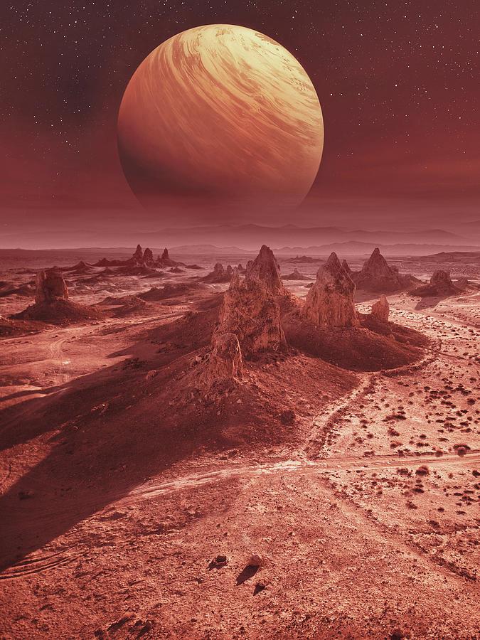 Mars Landscape Digital Art