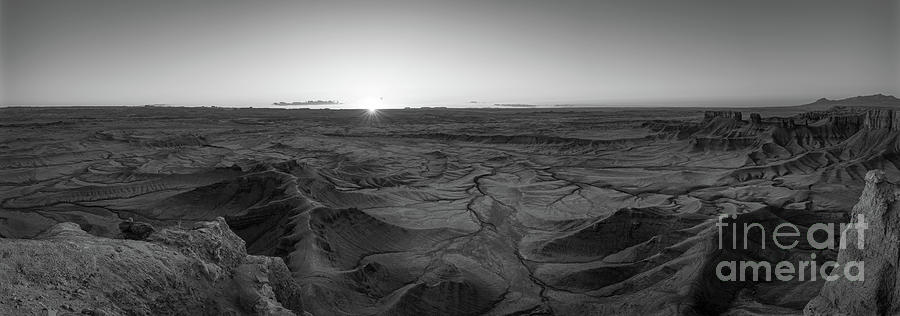 Mars Sunrise Bw Photograph