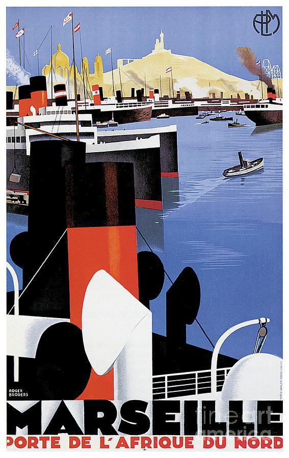 Marseille Porte De L Afrique Du Nord Travel Poster Painting