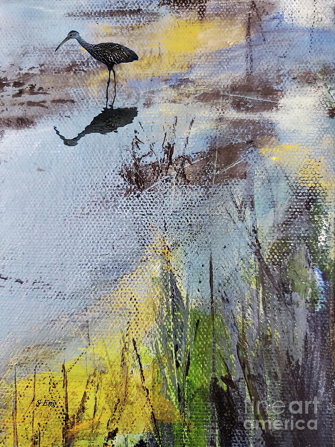 Marsh Impressions 3 Mixed Media