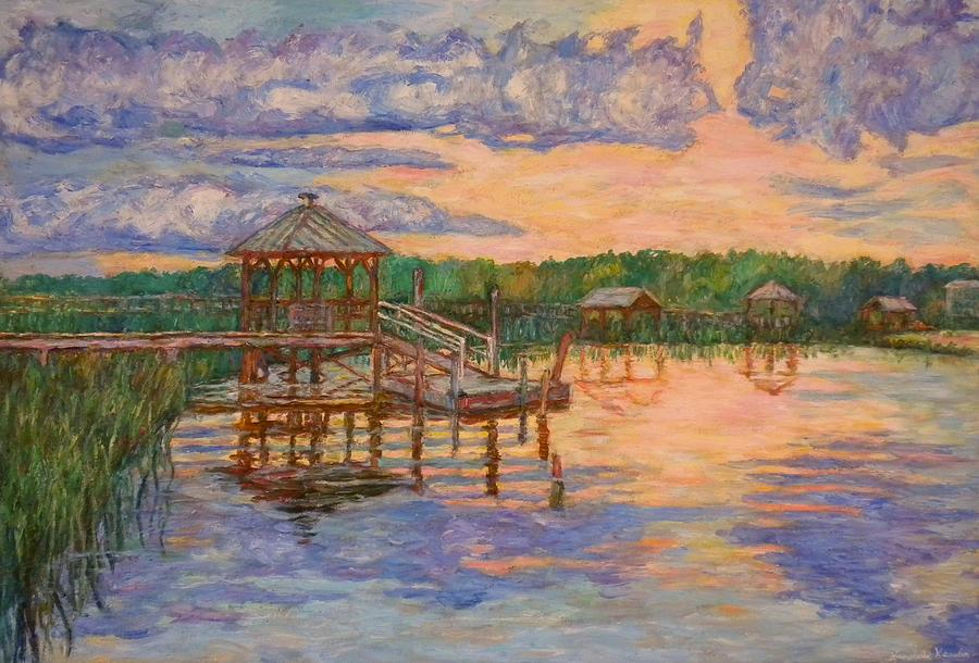 Landscape Painting - Marsh View at Pawleys Island by Kendall Kessler