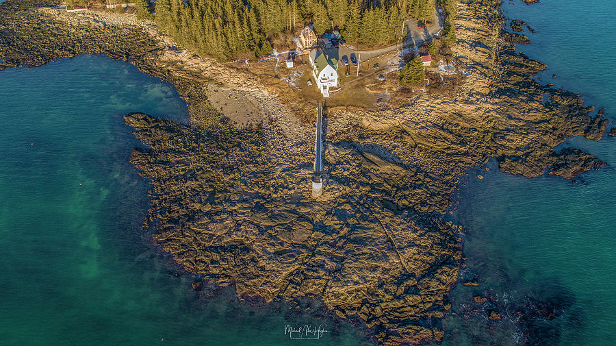 Marshall Point Light Aerial by Michael Hughes