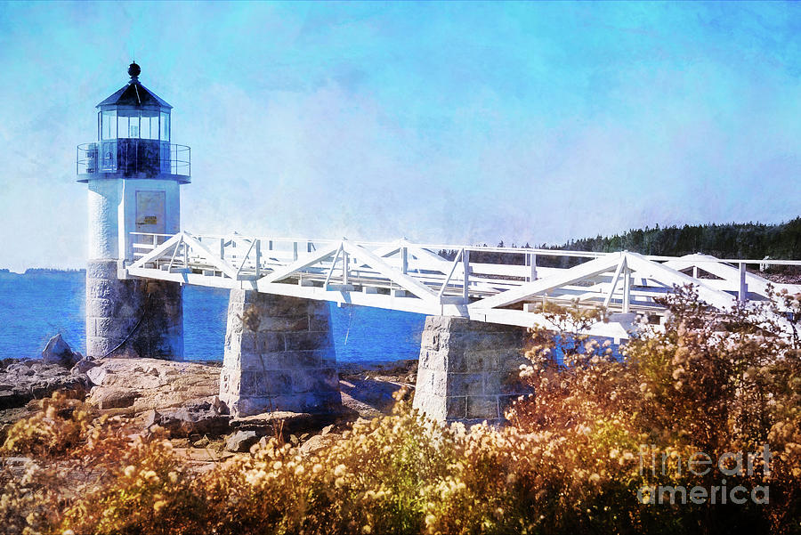 Marshall Point Lighthouse Painterly by Anita Pollak