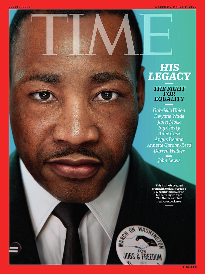 Civil Rights Photograph - Martin Luther King, Jr. by Portrait for TIME by Hank Willis Thomas and Digital Domain