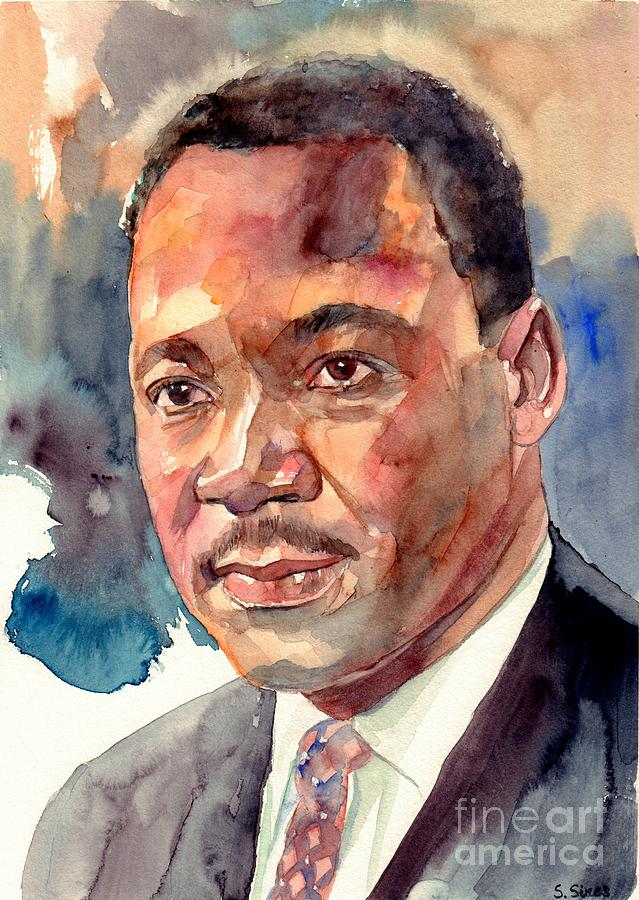Martin Luther King Jr Painting - Martin Luther King Jr. Portrait by Suzann Sines
