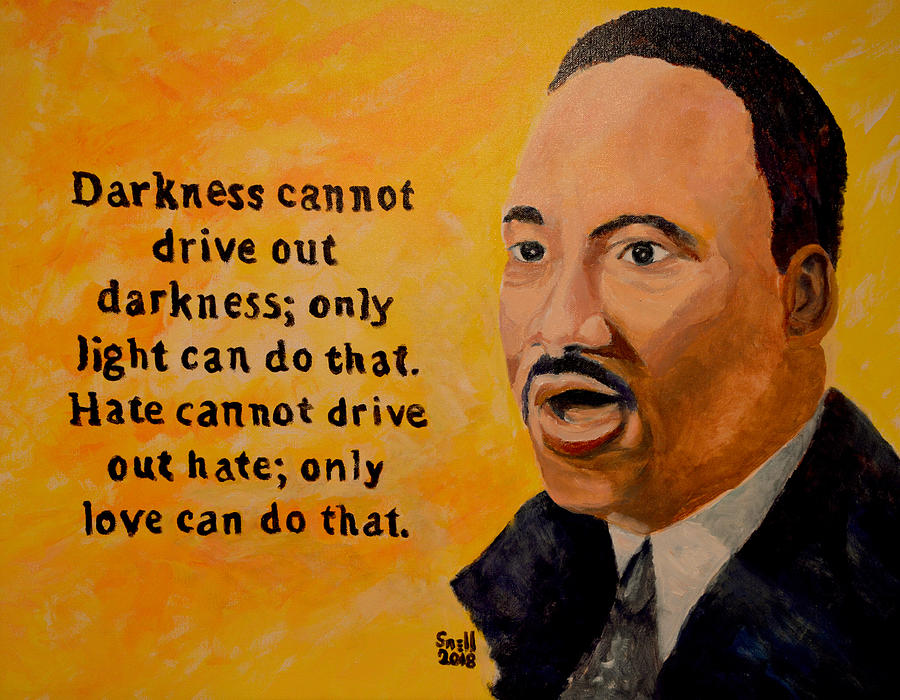 Oil Painting - Martin Luther King Jr. by Roger Snell