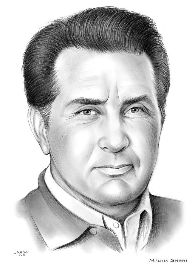 Martin Sheen Drawing - Martin Sheen - pencil by Greg Joens