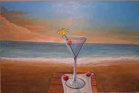 Martini Painting - Martini In Door County by Rick Huotari