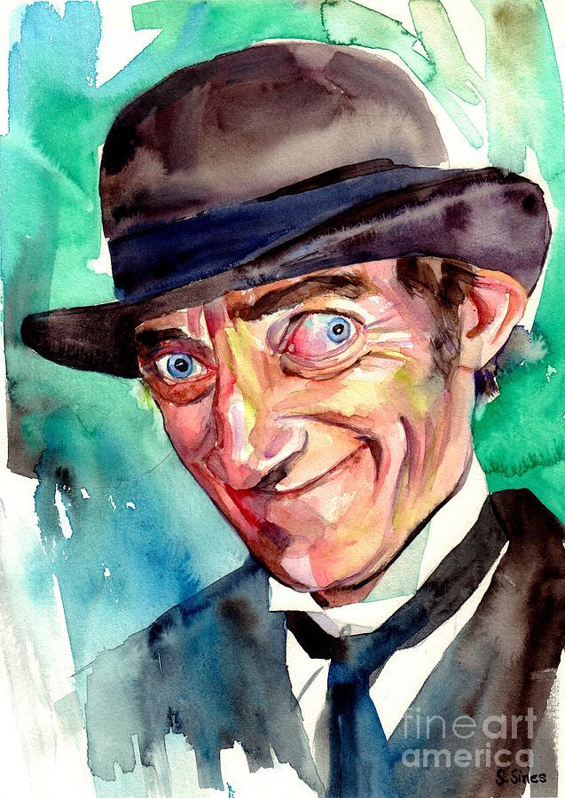 Marty Feldman Painting - Marty Feldman Portrait by Suzann Sines