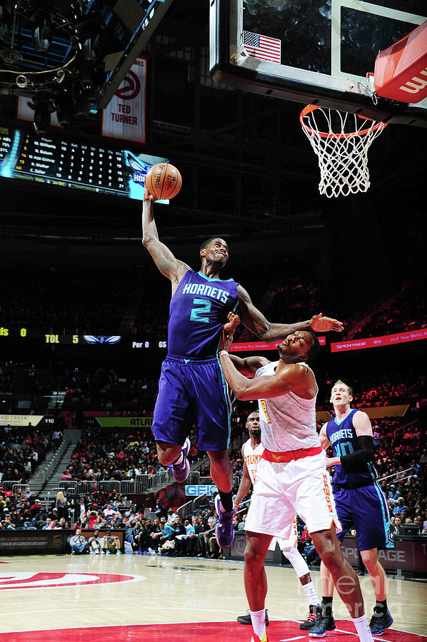 Marvin Williams and Dwight Howard Photograph by Scott Cunningham
