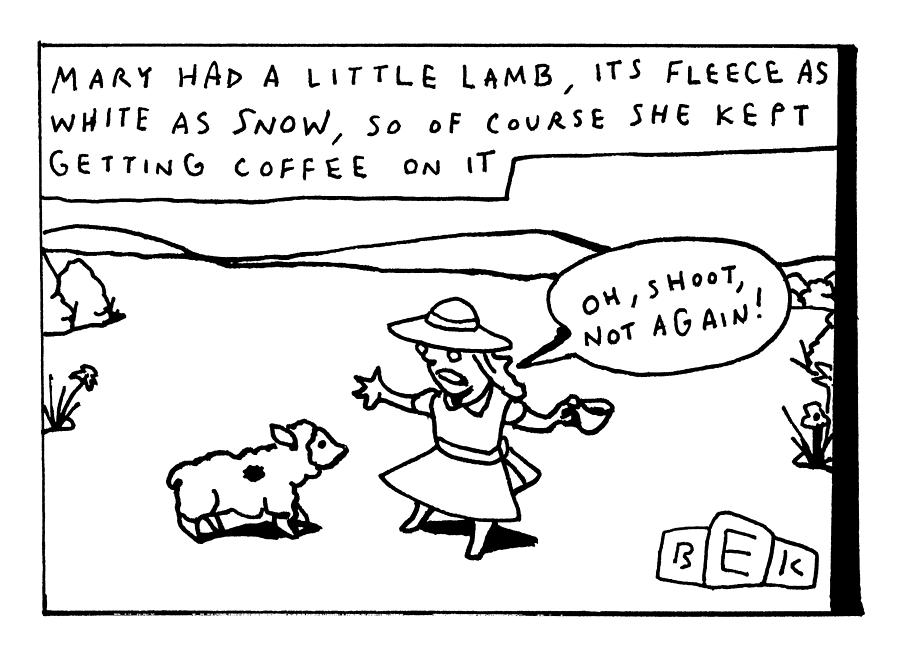 Mary Had A Little Lamb Drawing by Bruce Eric Kaplan