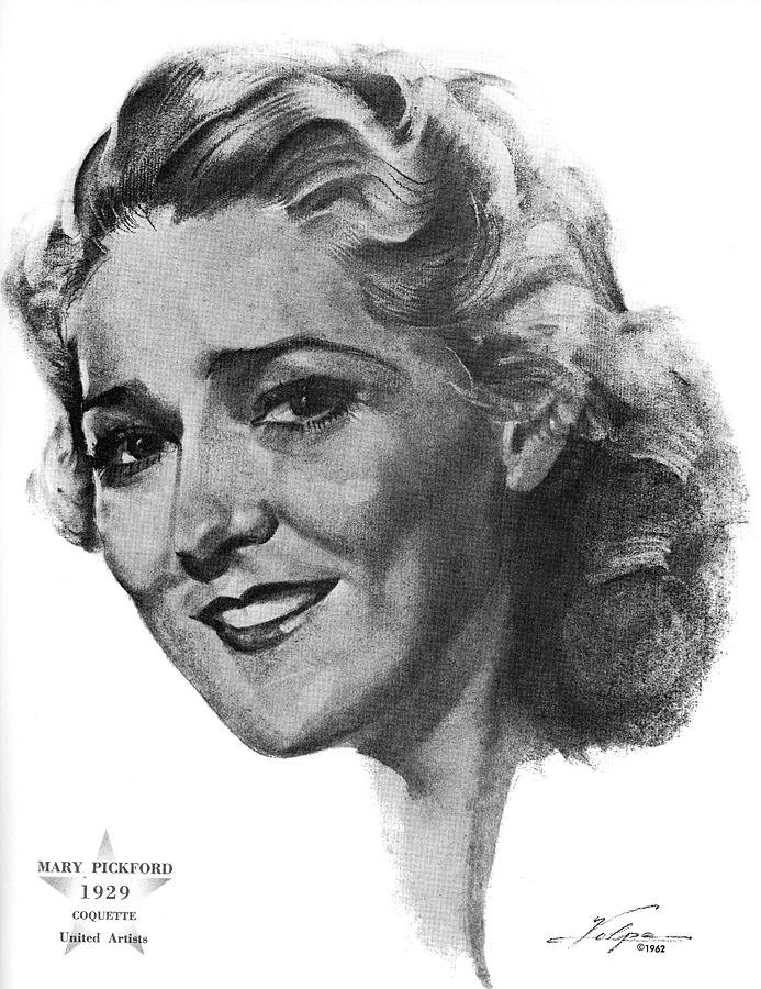 Mary Pickford By Volpe Drawing