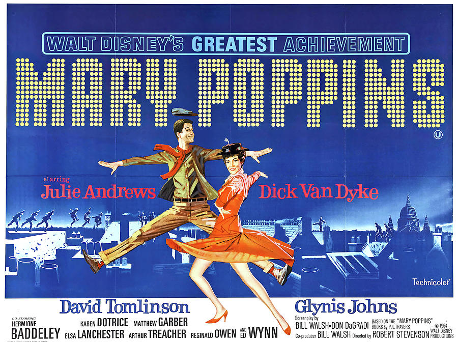 mary Poppins, With Julie Andrews, 1964 Mixed Media