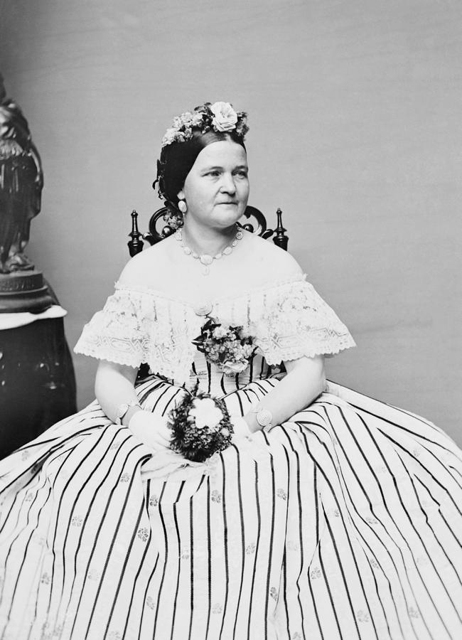 Mary Todd Lincoln Photograph - Mary Todd Lincoln Portrait - Circa 1861 by War Is Hell Store