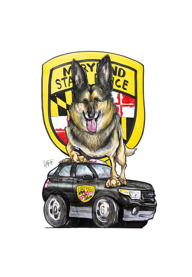 Maryland Police German Shepherd 2 Drawing