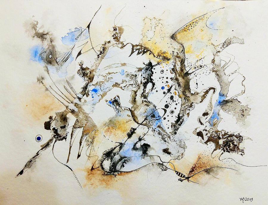 Ink Painting Painting - Masinge Turabanga by Wolfgang Schweizer
