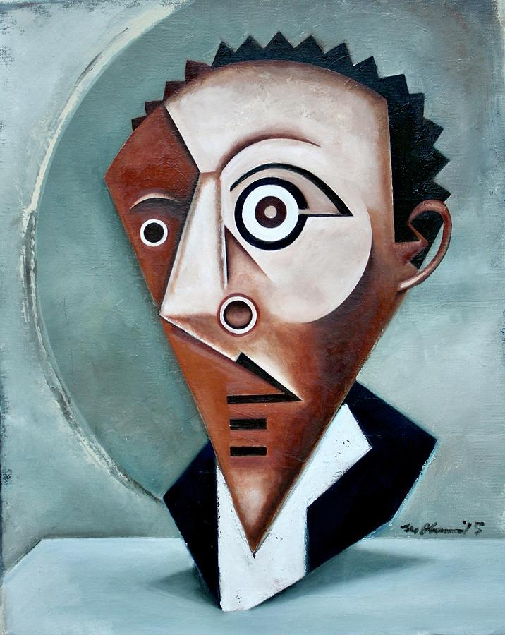 Langston Hughes Painting - Mask of the Black Pierrot / Langston Hughes by Martel Chapman