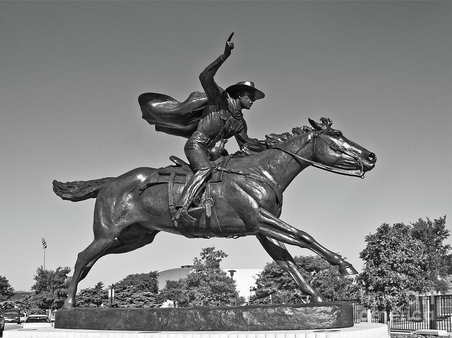 Masked Rider Statue in BW by Mae Wertz