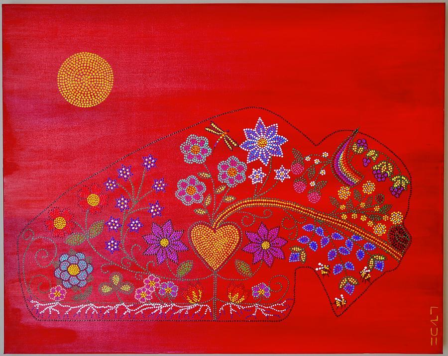 Maskihkiy Earth Medicine Painting by Karlee Fellner