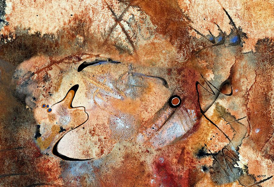 Abstract Ink Painting - Masonga Dibuande by Wolfgang Schweizer