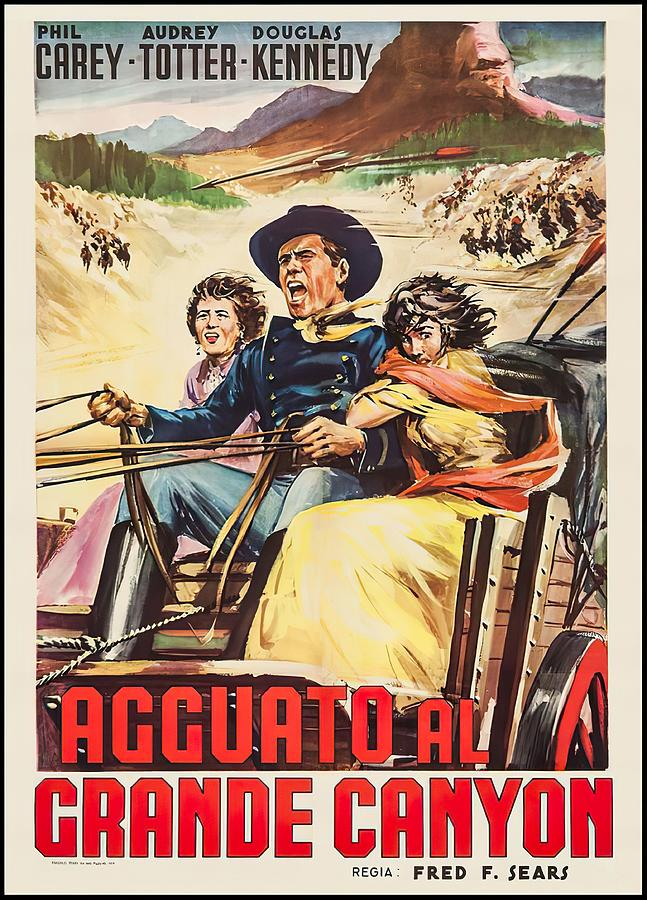 massacre Canyon, 1954 Mixed Media