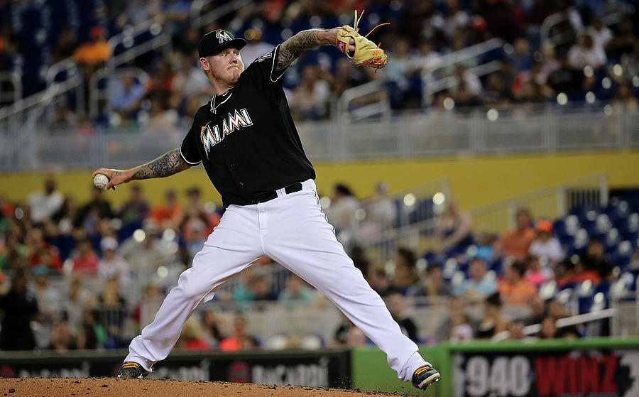 Mat Latos Photograph by Mike Ehrmann