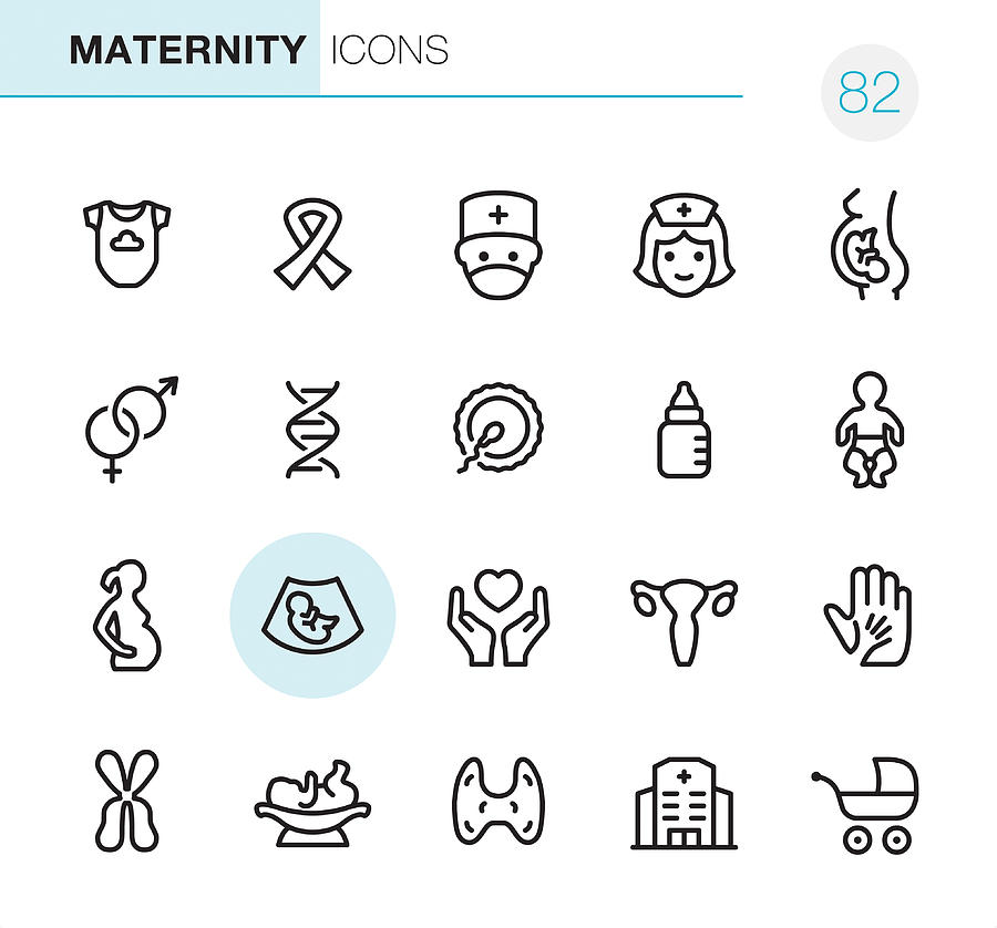 Maternity - Pixel Perfect icons Drawing by Lushik