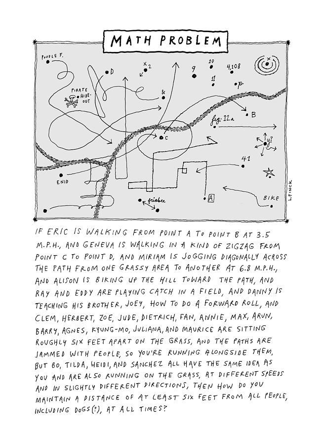 Math Problem Drawing by Liana Finck
