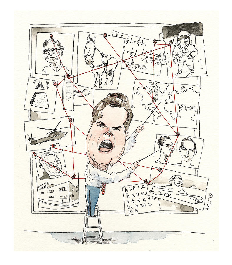 Matt Gaetz Explains the Conspiracy Theory Meant to Take Him Down  Painting by Barry Blitt