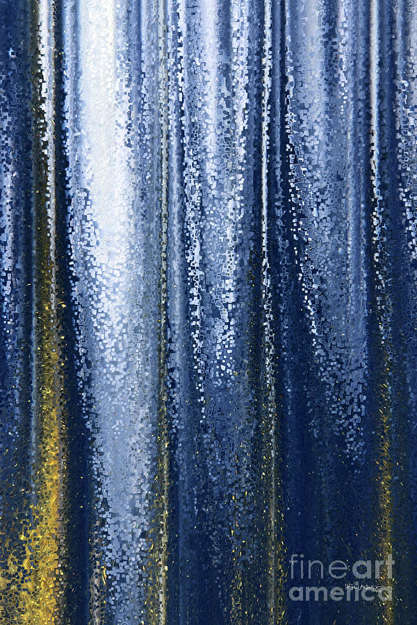 Blue Painting - Matthew 19 26. People of Possibility. by Mark Lawrence